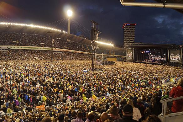 62 000 personer besökte Ullevi när Bruce Springsteen spela där den 27 juni 2016. Foto: Peter Ahlborg