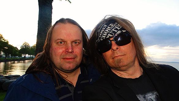 Hasse Sukis och Peter Ahlborg i Vadstena. Foto: Peter Ahlborg