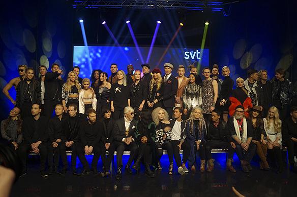Här är årets upplaga av Melodifestivalen 2017. Sammanlagt ställer 43 artister upp (16 kvinnor och 27 män) som tävlar i de fyra städerna Göteborg, Malmö, Växjö och Skellefteå. Foto: Peter Ahlborg