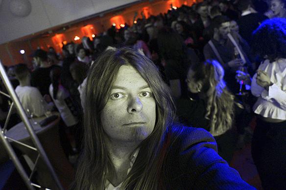 Peter Ahlborg bevakar Melodifestivalens efterfest på Elite Park Avenue i Göteborg 2017. Foto: Peter Ahlborg