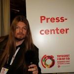 Peter Ahlborg bevakar Socialdemokraternas partikongress