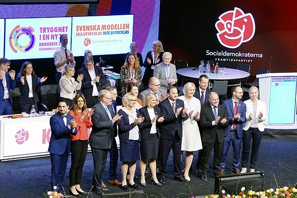 Socialdemokraterna väljer nytt verkställande utskott på Socialdemokraternas partikongress i Göteborg den 10 april 2017. Foto: Peter Ahlborg