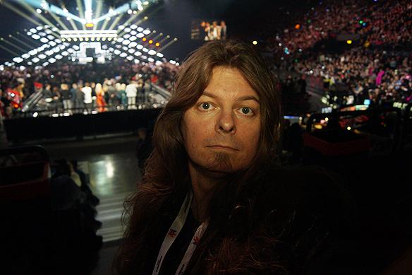 Peter Ahlborg bevakade Melodifestivalen från Göteborg. Foto: Peter Ahlborg