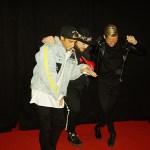 Samir och Viktor på skojfriskt humör på Melodifestivalens efterfesten