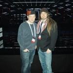 Tobbe Ek och Peter Ahlborg bevakar Melodifestivalen i keps