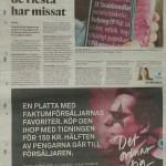 GP gör reklam kampanj för Faktumplattan som Peter Ahlborg pryder
