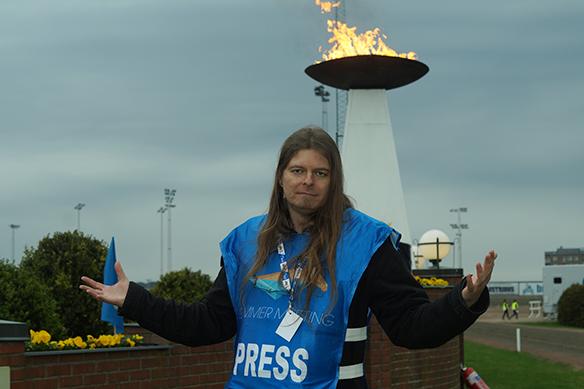 Peter Ahlborg bevakar Olympiatravet 2018 som fotograf och journalist. Foto: Privat