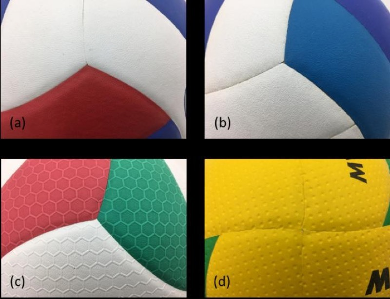 Patterned and unpatterned volleyball surfaces
