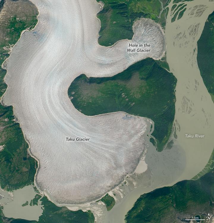 Taku Glacier in 2019