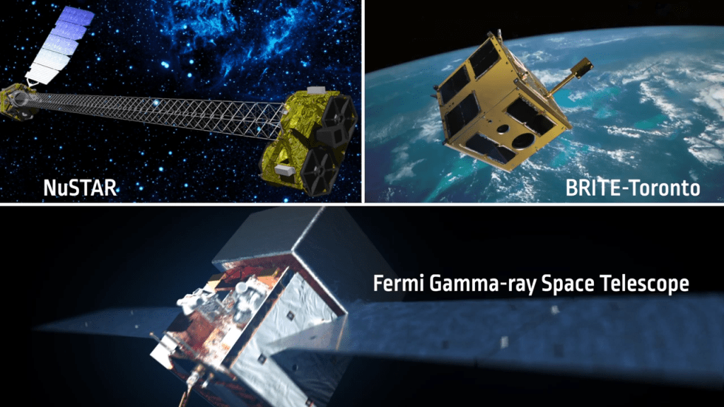 A trio of space-based telescopes provided data on the nova.