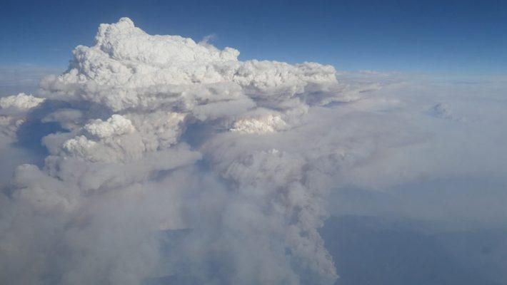 A pyrocumulonimbus cloud.