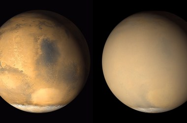 Mars before and during its 2018 Global Dust Storm.