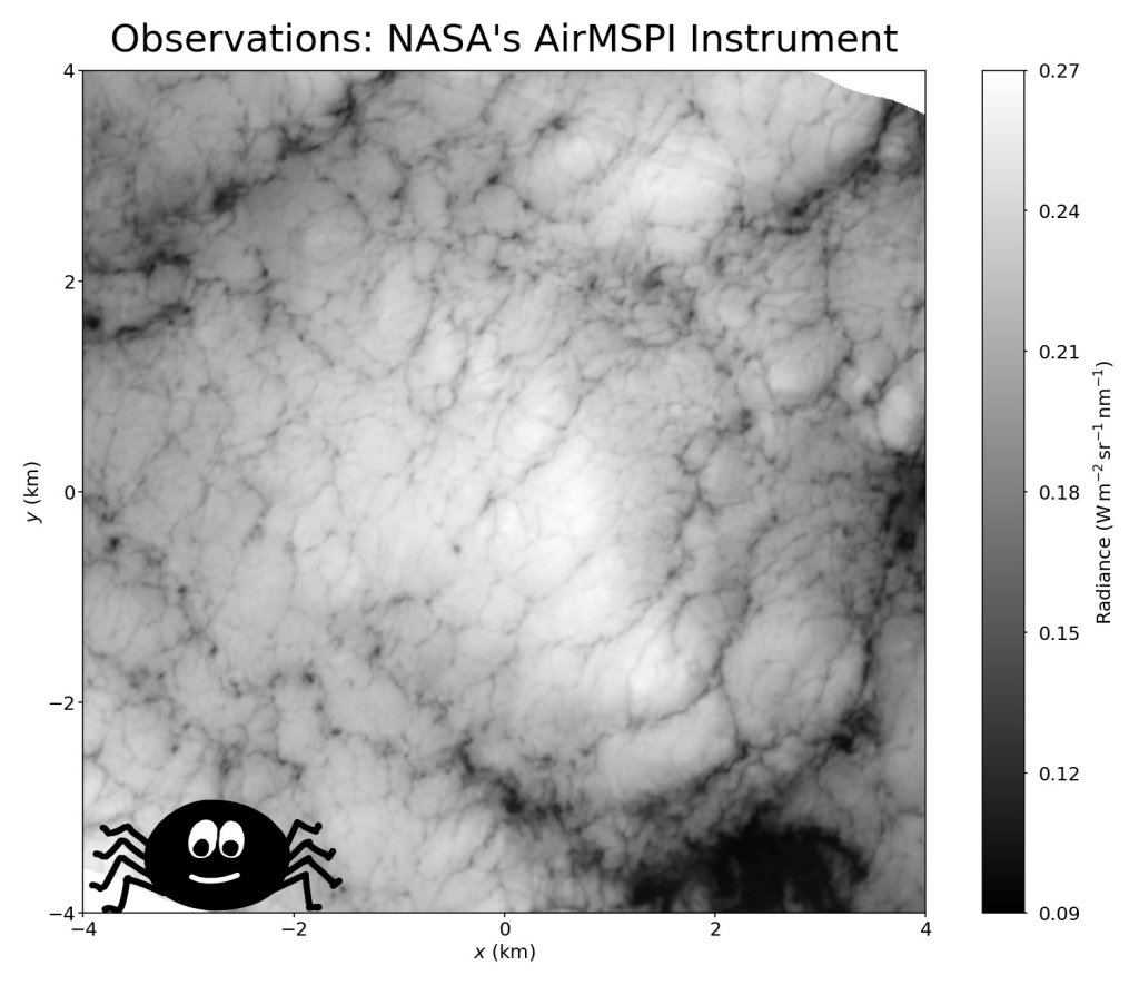 Observations of stratoculumus clouds show spiderweb-like slits in the cloud cover.