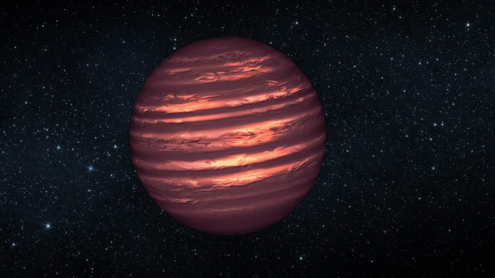 Artist's conception of a brown dwarf.