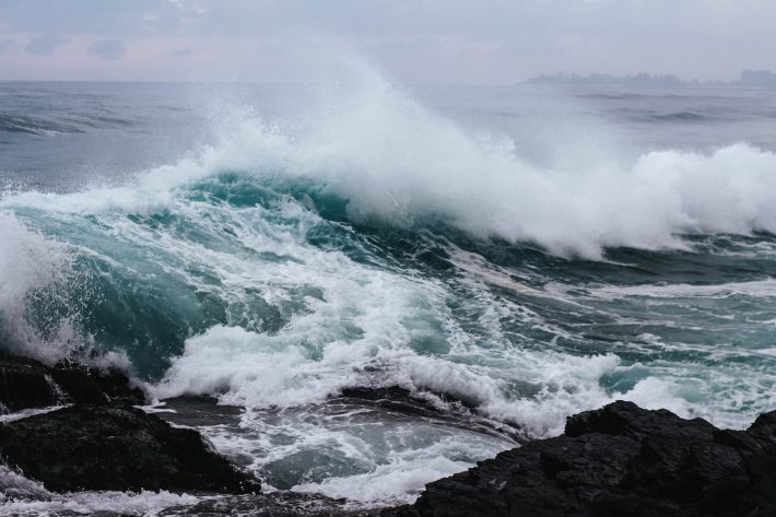 Breaking wave action creates a spray of aerosol particles that directly connect our ocean and atmosphere.