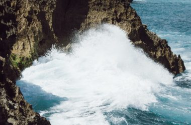 Waves breaking against the shore cause seismic activity.