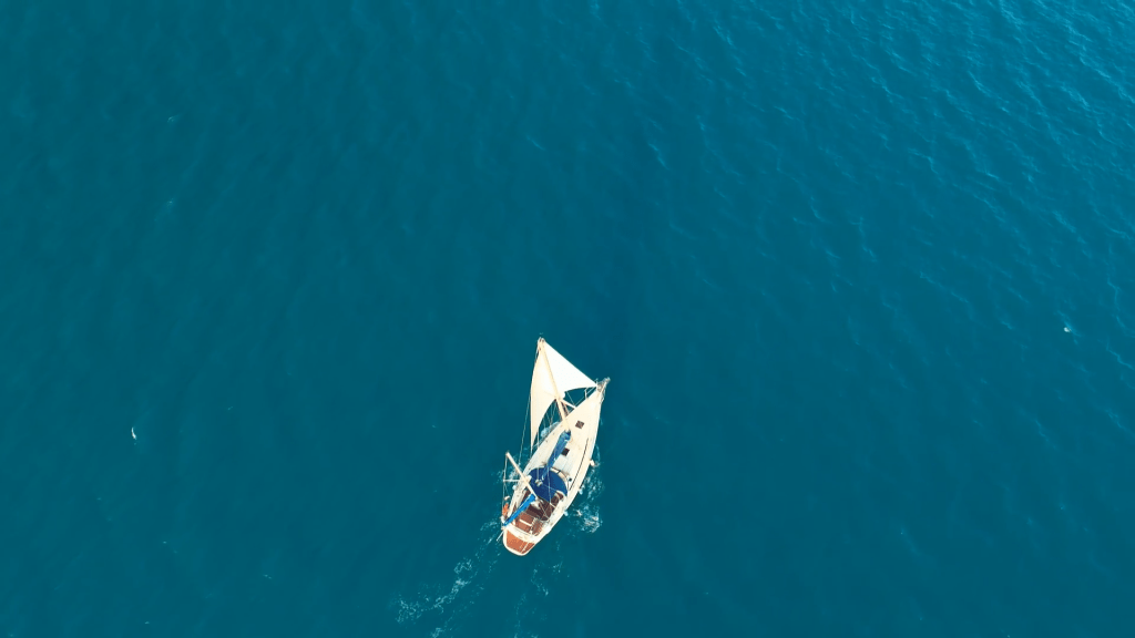 Because of the way sailboats extract energy and redirect force from the wind, they can actually sail faster than the wind.