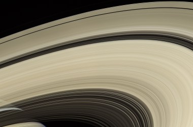 Saturn's distinctive rings provide clues to the planet's interior.