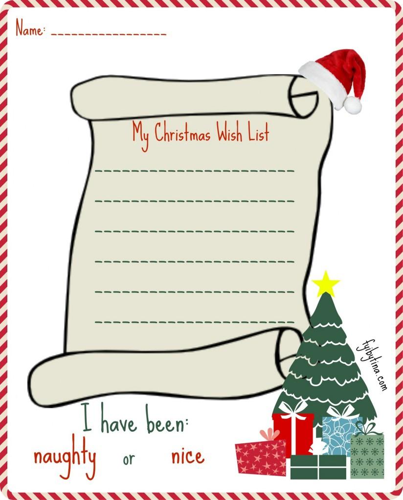 christmas wish list printable my christmas wish list printable