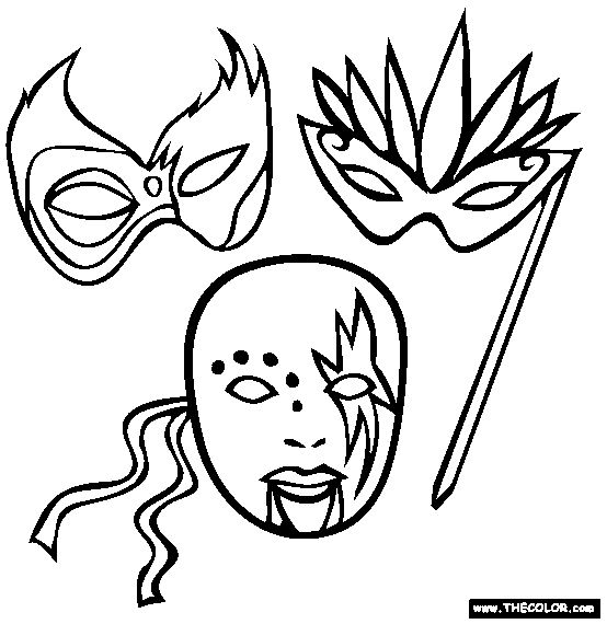 mardi gras coloring pages free printable # 13