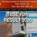 TBSE 10th Result 2020