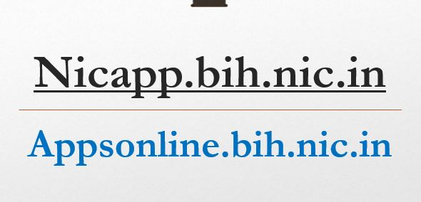 Nicapp.bih.nic.in Appsonline.bih.nic.in
