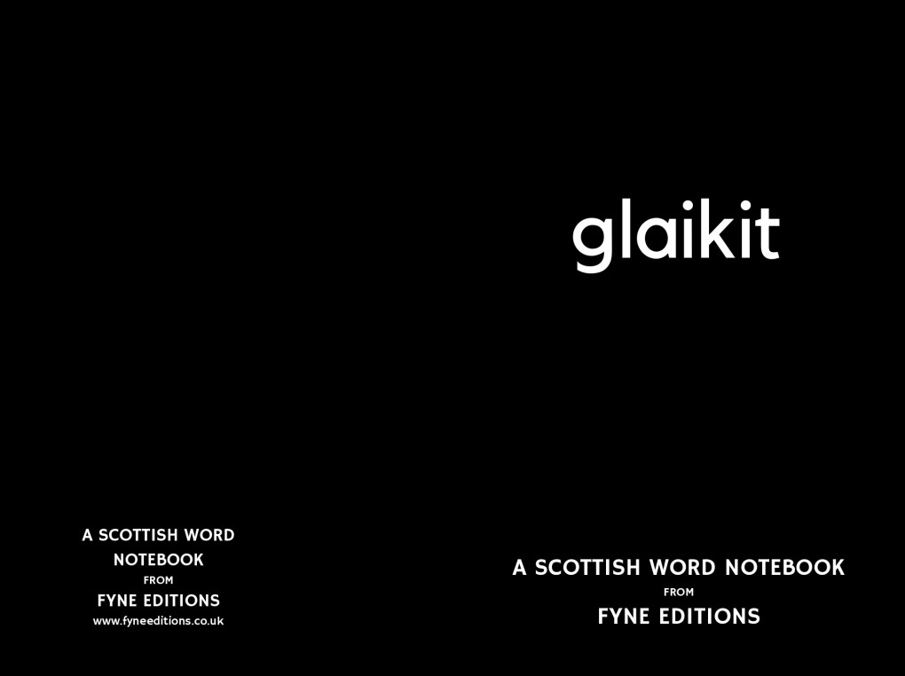 Glaikit - Scottish Words Notebook