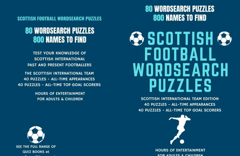 The Best Scottish Football Word Puzzle Book – Hours of Entertainment