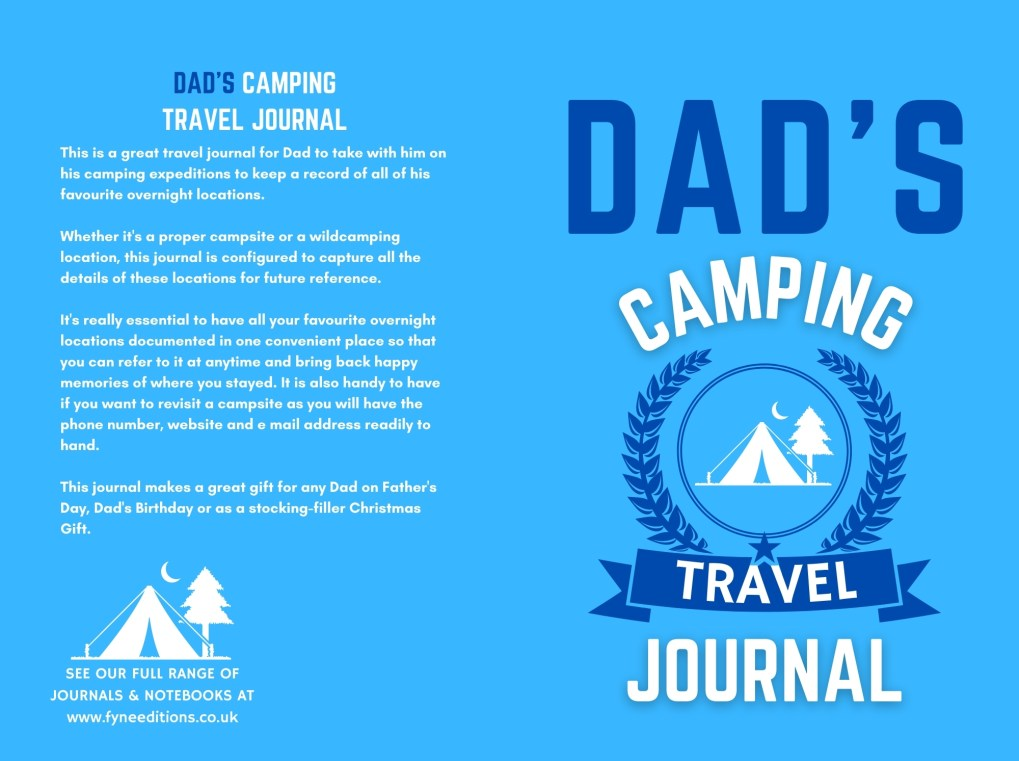 Dad's Camping Travel Journal - Cover
