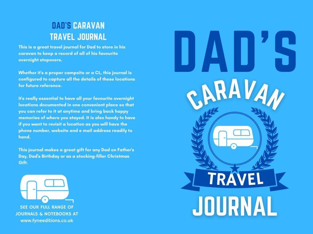 Dad's Caravan Travel Journal - Cover