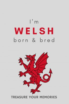 Welsh Born & Bred Lined Notebook