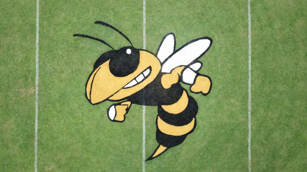 drone Football Field Logo Highland Rim School