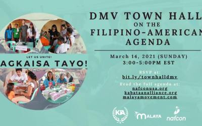Event: Magkaisa Tayo! DMV Town Hall on the Filipino-American Agenda – March 14, 2021