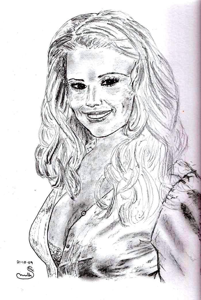 Cherylesque - pencil sketch 21.10.2009