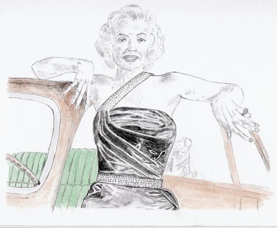 Marilynesque - pencil & watercolour 18.10.2009