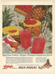 1959 - Pineapple raspberry juice