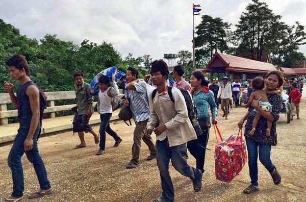 タイへ来る隣国からの労働者