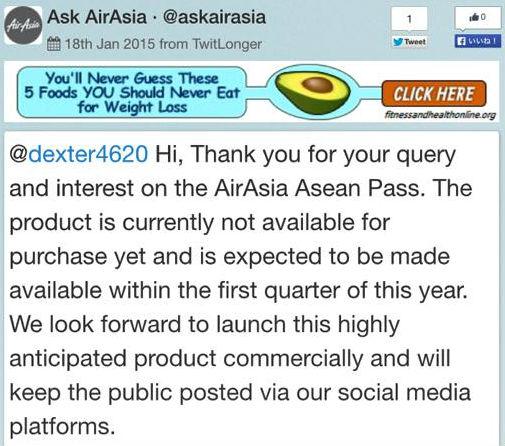 エアアジアによるASEANパス発売延期報道