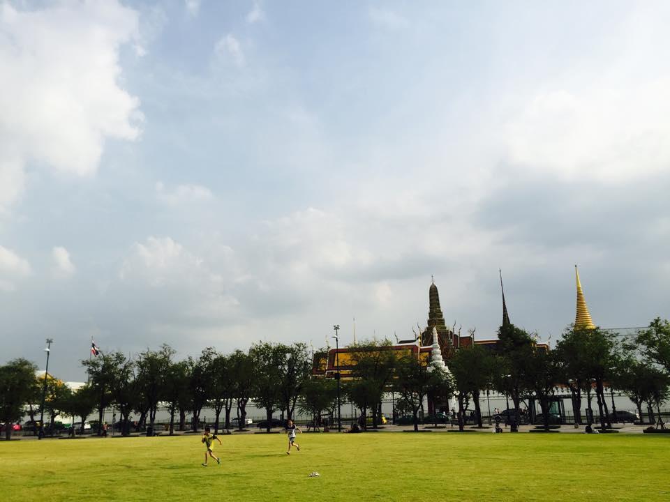 タイの王宮前