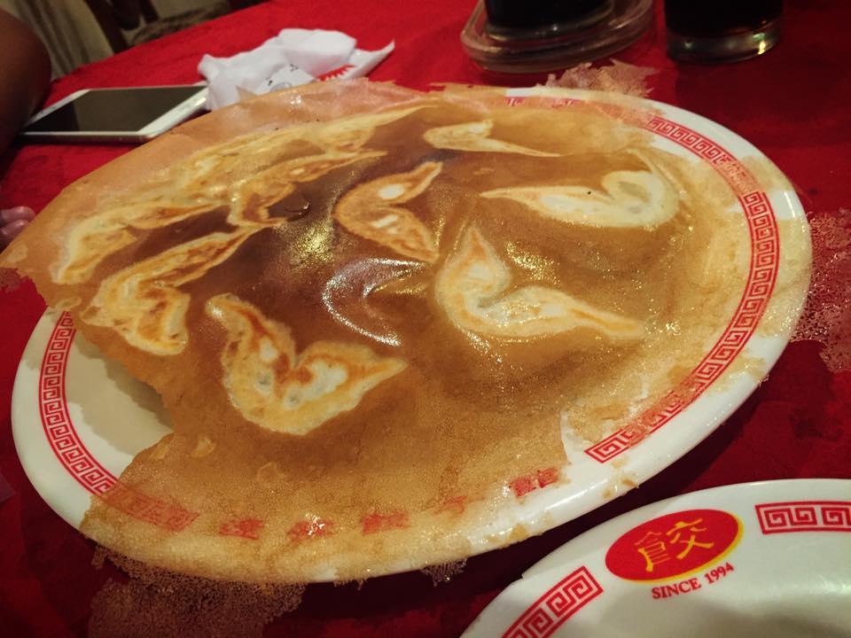 遼寧餃子館の羽根つき餃子