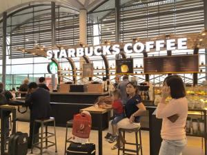 Phnom Phen airport starbucks