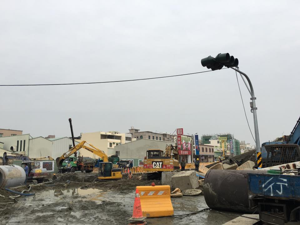 2016 earthquake Tainan site