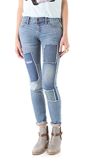 Free People Patched Skinny Jeans SHOPBOP