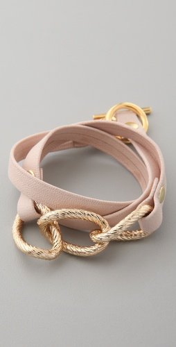 Gorjana Parker Leather Wrap Bracelet