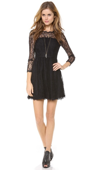Delicate Lace Dress-Juice Couture