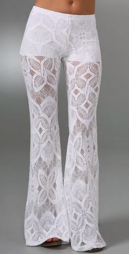 Nightcap Clothing Lace Bell Bottom Pants