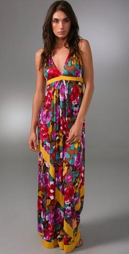 T-Bags String Halter Long Dress