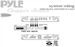 Pyle  PLA1200  On the Road  Vehicle Amplifiers