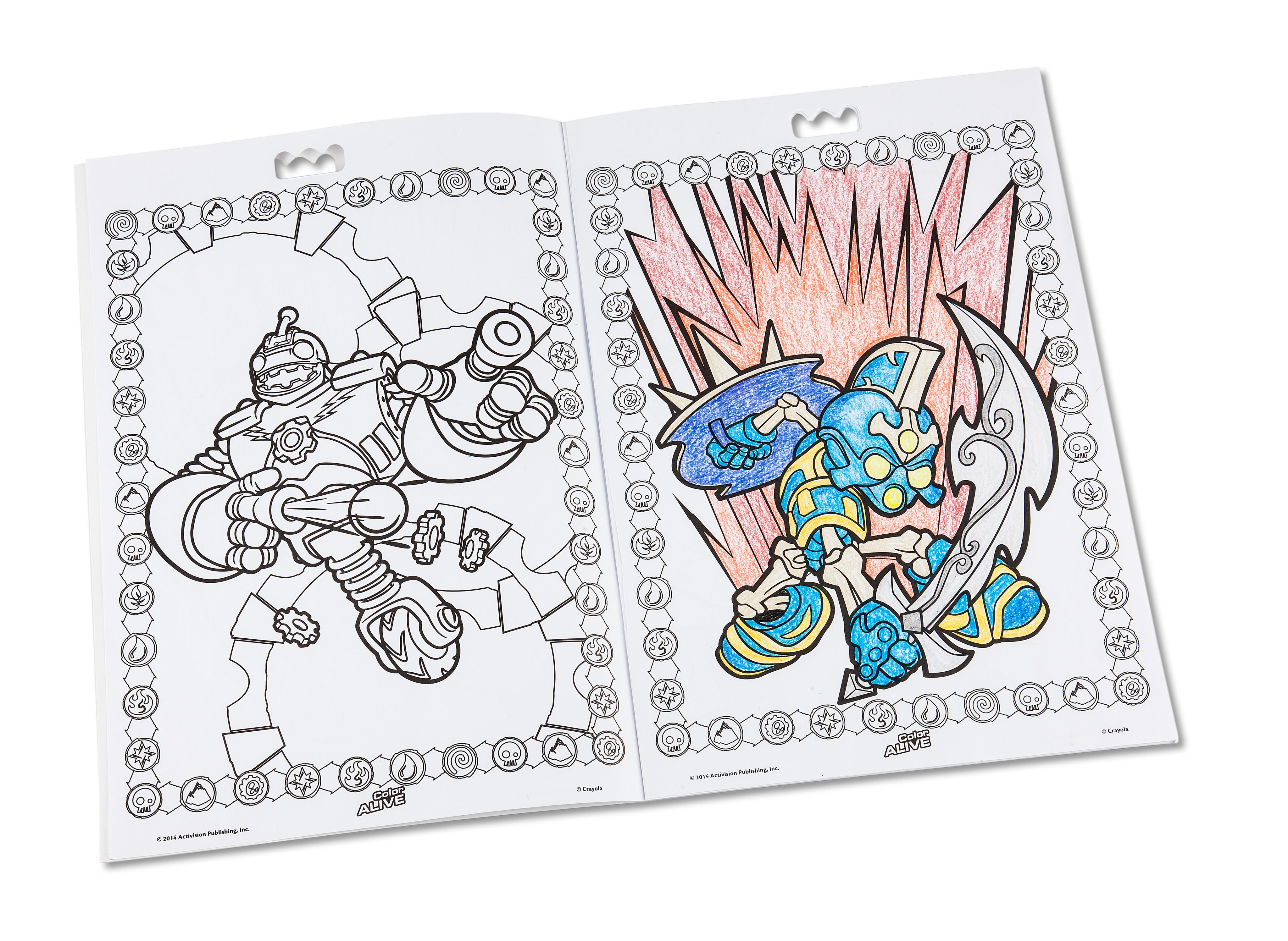 crayola color alive action coloring pages combo set skylanders