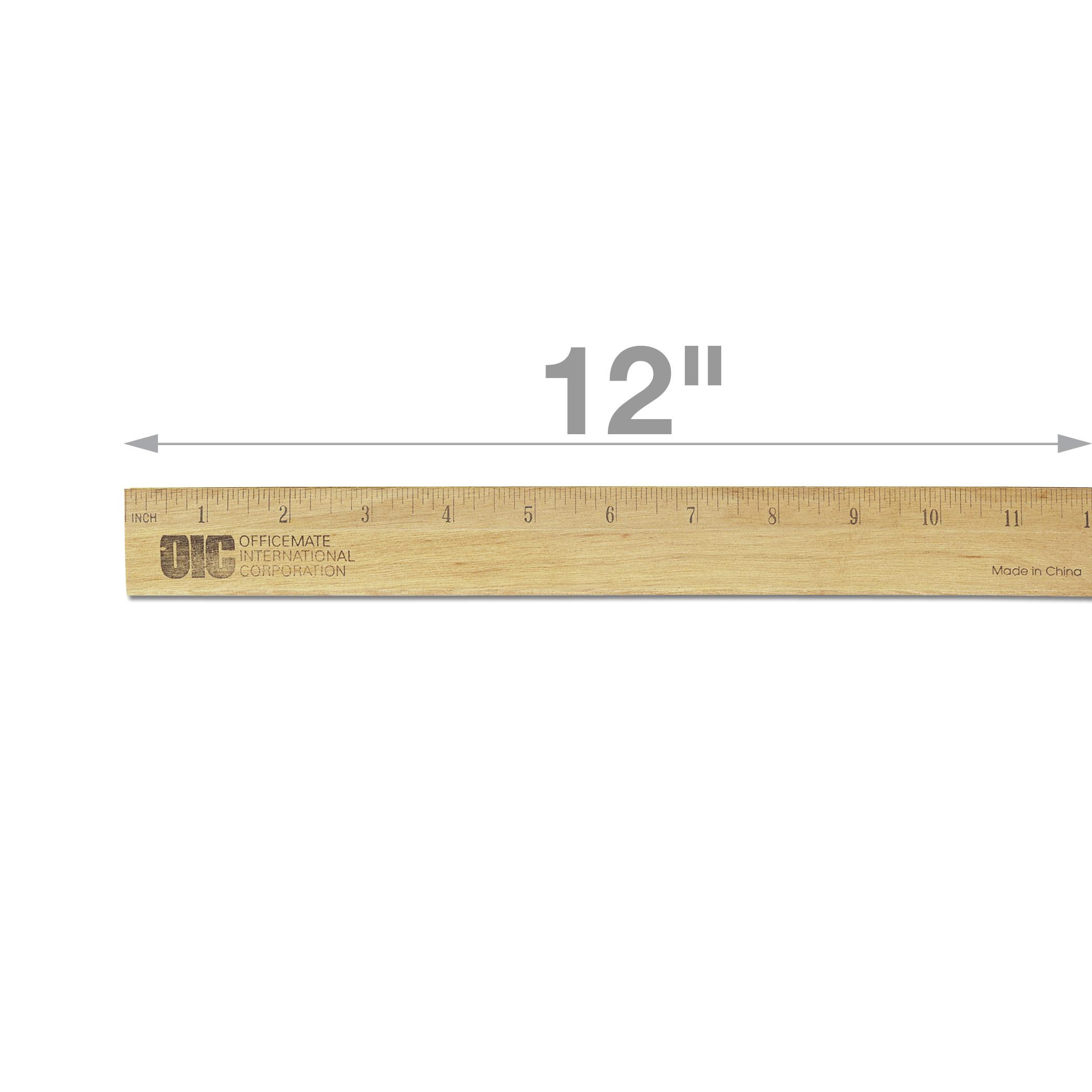 Amazon Officemate Oic Classic Wood Ruler With Single